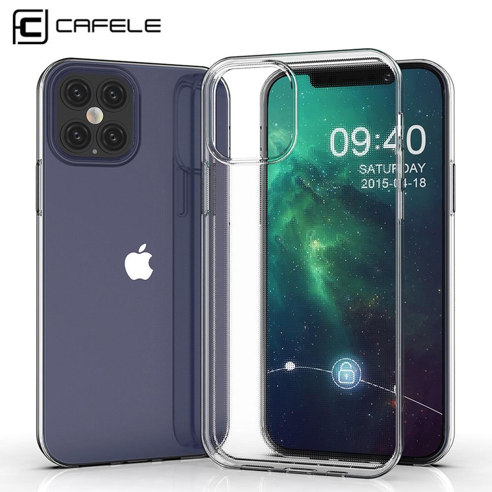 12 Pro Max SE Cafele Phone Case Transparente para iPhone 2020 Caso TPU Macio Para iPhone 12 Plus 6.1/6.7 Anti Impressão Digital Cobertura Completa