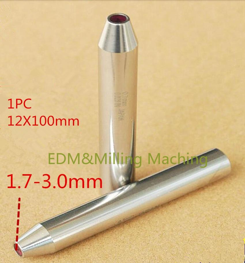 EDM Machine C140D Ruby Ceramic Guide 12X100mm 1.7X3.0mm Guide Tube For Drill Guide For Drilling EDM Machine birdfeeder guide