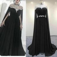 elegant mermaid long high neck beaded evening dresses with pockets floor length zipper back formal party dress for women