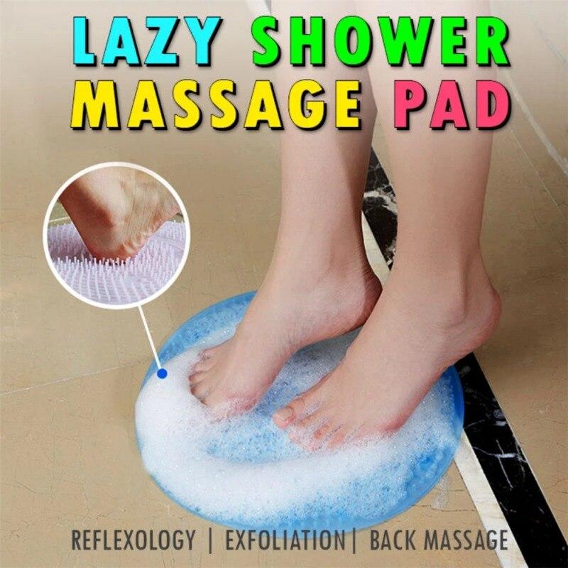 Силиконовая щетка для душа, массажер для спины, щетка для стоп, омертвевшая кожа, противоскользящая подушка, коврики для ванной, очиститель подошвы, массажная насадка для ног