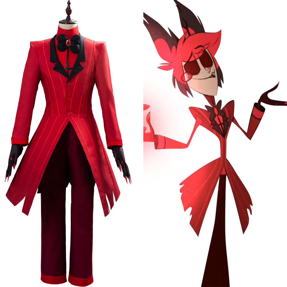 Filme hazbin cosplay hotel alastor cosplay traje roupa completa terno trajes de halloween