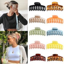 Hot Sale Solid Color Claw Clip Large Barrette Crab Hair Claws Bath Clip Ponytail Clip For Women Girl