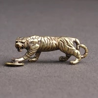 brass tiger the chinese zodiac animal solid brass small ornament mini original tiger home decoration ornament lucky gift
