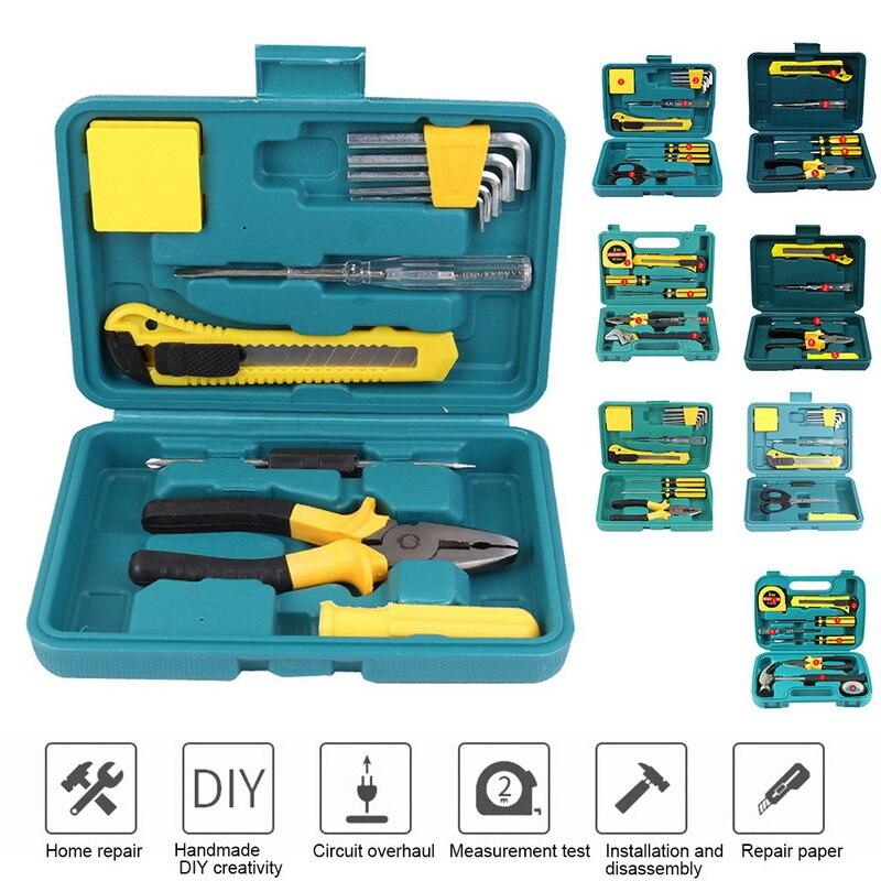 8/9/10PCS Hand Tool Sets Screwdriver Wrench Batch Scissors Knife Set Home Maintenance Tool Set Portable Repair Hand Tools Kit