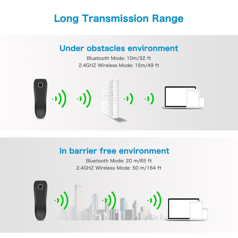 NETUM C750 Bluetooth Wireless 2D Barcode Scanner Pocket QR Bar code Reader PDF417 for Tobacco Garment mobile payment Industry