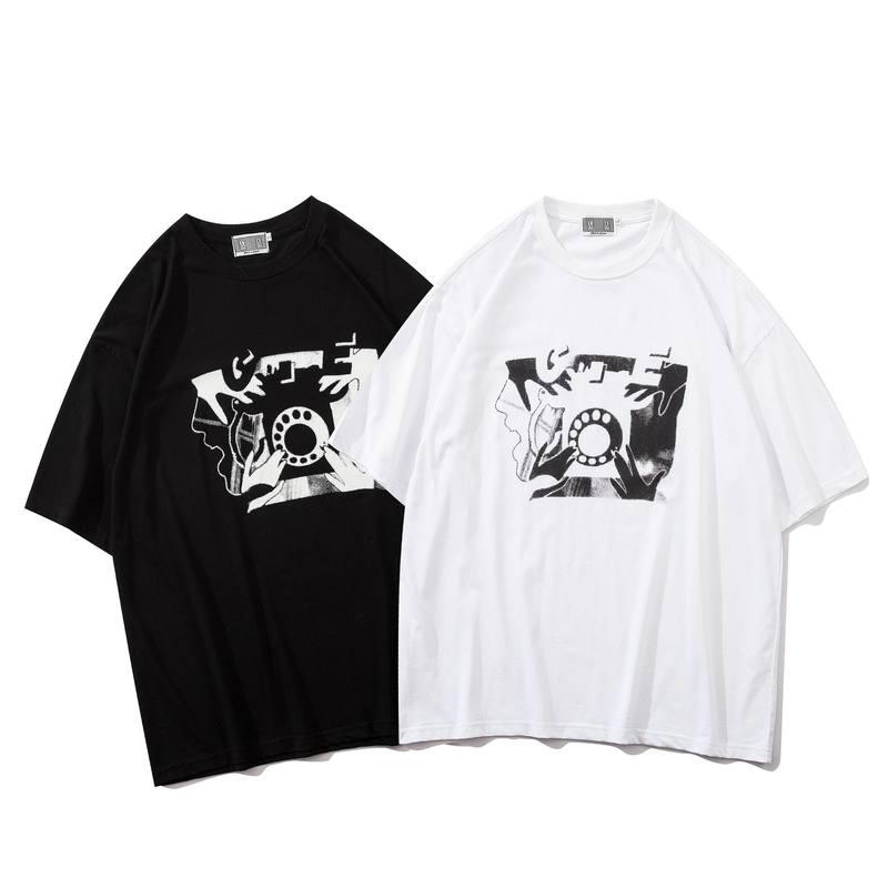 ¡Novedad del 20ss! Camisetas con estampado de Cavempt CE, camisetas de manga larga con DIAL rotativo, ropa de calle, camisetas de estilo hip hop para hombres y mujeres