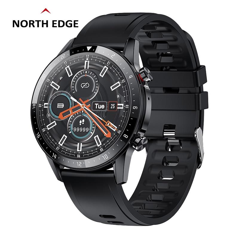 Смарт-часы NORTH EDGE, мужские и женские часы с музыкальным циферблатом/телефонные звонки, Bluetooth совместимые часы с гарнитурой