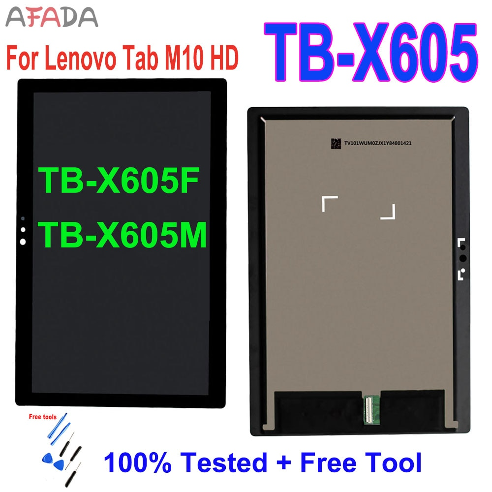 5PCS 10.1'' For Lenovo Tab M10 Tab 5 Plus TB-X605L TB-X605F TB-X605M TB-X605 LCD Touch Screen Digitizer Assembly Replacement