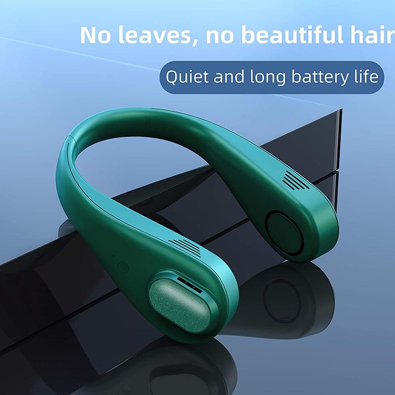 الرقبة مروحة سماعة تصميم المحمولة USB شحن مروحة صغيرة مناسبة للصفقات في الهواء الطلق