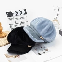 faux velvet women beret autumn winter octagonal cap hats stylish artist painter newsboy caps black grey beret hats autumn winter