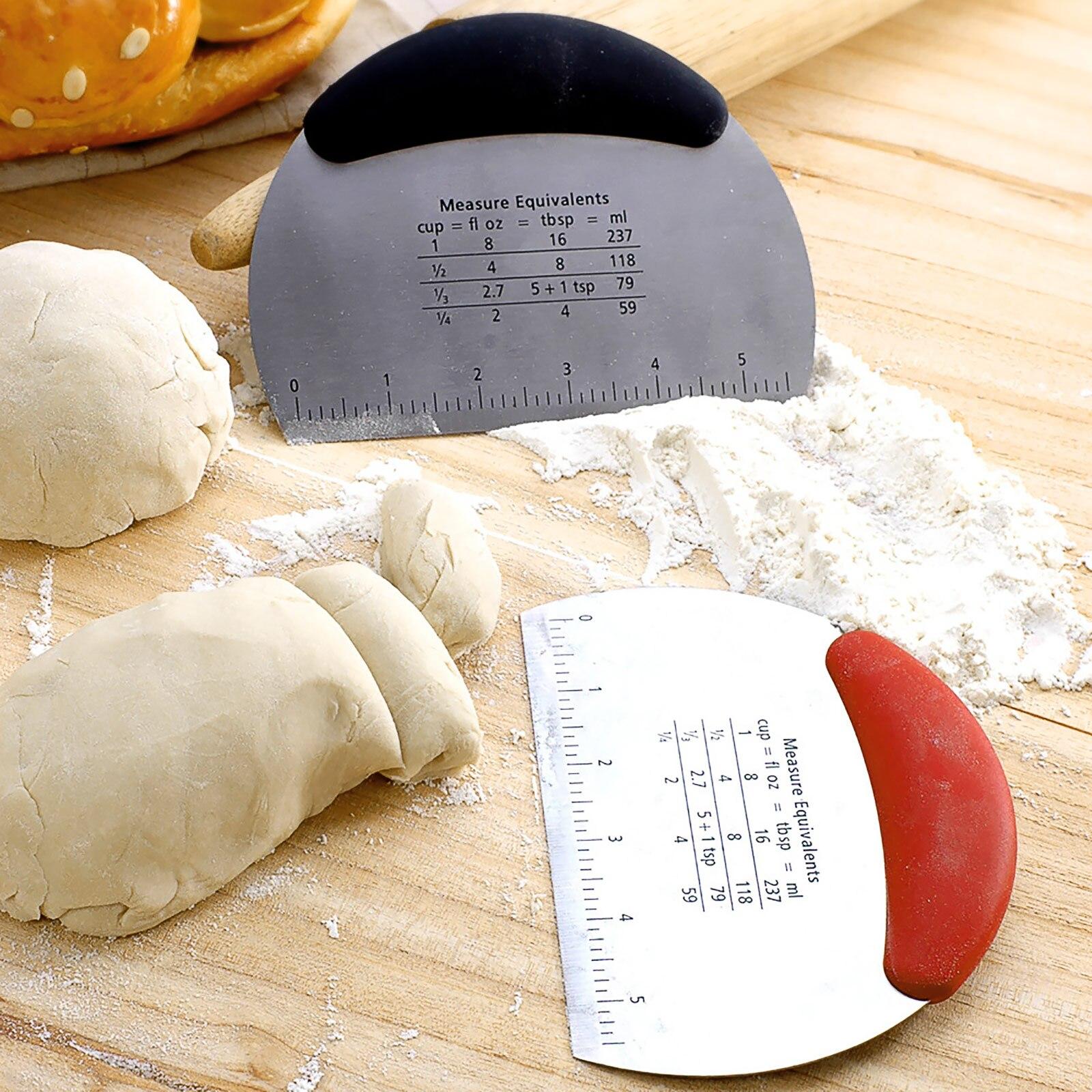 Acier inoxydable coupe-pâte professionnel crème lisse gâteau spatule cuisson grattoir polyvalent cuisine pain pâte outil de coupe