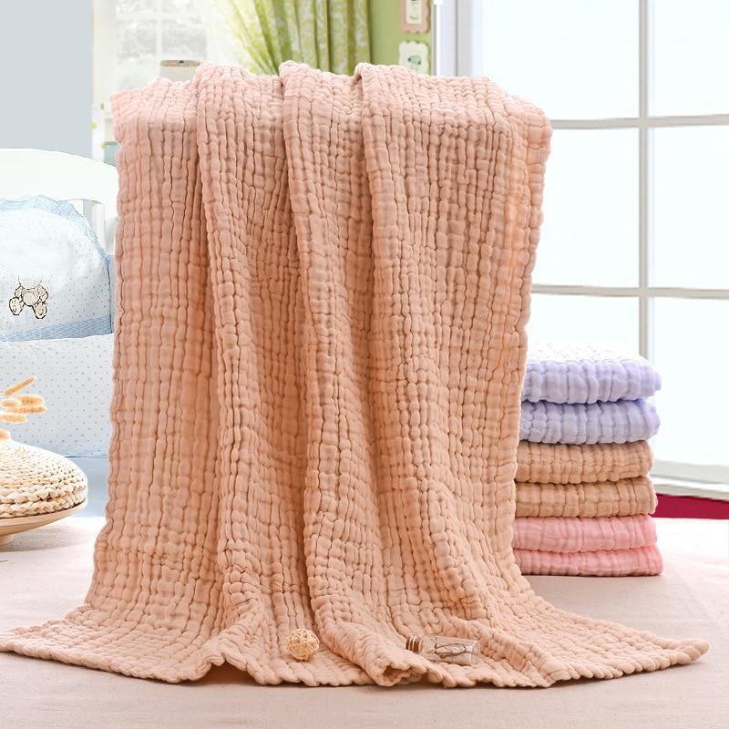 6 Layers Muslin Swaddle Baby Blankets Newborn Muslin Swaddle Baby Bedding Custom Blanket Couverture Bebe Emmaillotage