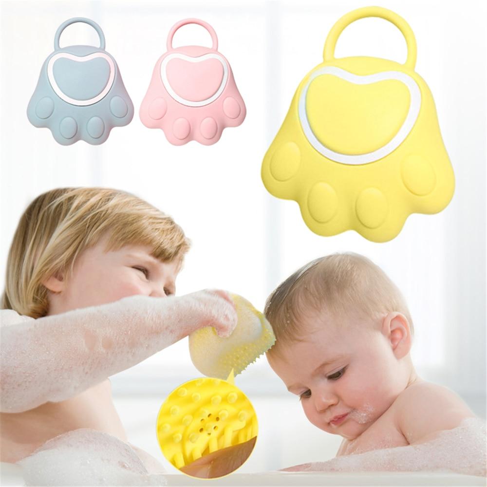 Hot Sale Bath Brush Soft Silicone Baby Shower Bubble Brush Shampoo Massage Comb Clean Body Exfoliati
