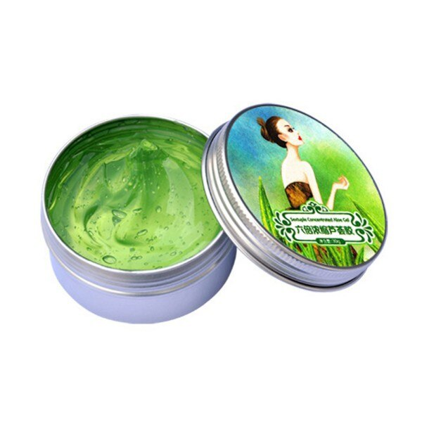 EE. UU. En las mujeres de Gel de Aloe Vera crema eliminar acné blanquear hidratante cara Sets para el cuidado de la piel seis veces esencia concentrada *