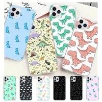 cute dinosaur baby fashion transparent phone cover case for samsung galaxy a51 a71 s20 s10e s8 s7 s9 s10 plus
