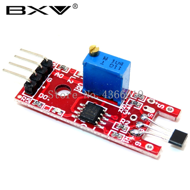 50pcs/lot 4pin KY-024 Linear Magnetic Hall Switches Speed Counting Sensor Module for DIY Kit