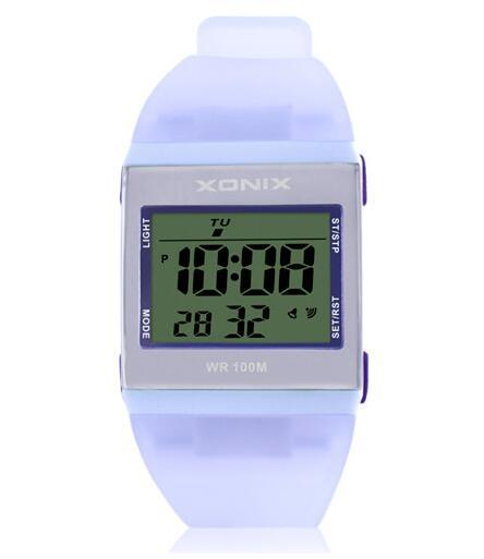 نساء رياضة ساعة رقمية متعدد الألوان مقاوم للماء 100 م فتاة الرياضة فستان ساعة الطلاب في الهواء الطلق ساعة مصباح ليد متعددة الوظائف