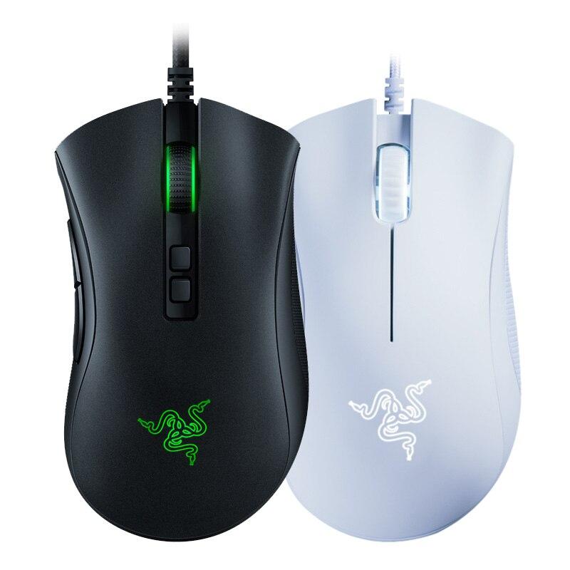 Проводная игровая мышь Razer DeathAdder, мышка 6400 точек/дюйм, оптический сенсор, 5 кнопок, игровая мышка для ноутбука, ПК, геймера,