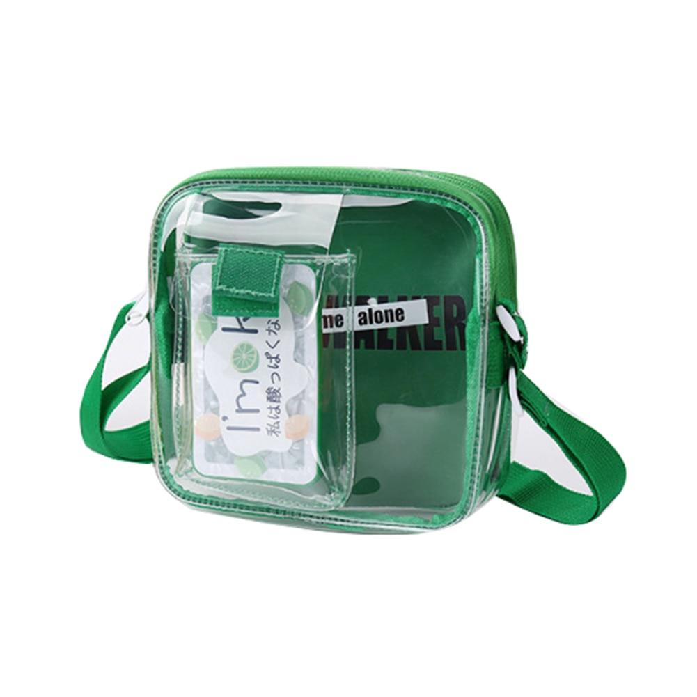 Waterproof Transparent Small Flap Bag Children Cartoon Shoulder Bag Coin Purse Messengers Bags Crossbody Bags