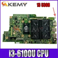 new i3 6100u for dell inspiron 13 5368 7368 5568 7569 7778 motherboard 15296 1 x41dx ddr4 cn 0jv40x jv40x mainboard 100test