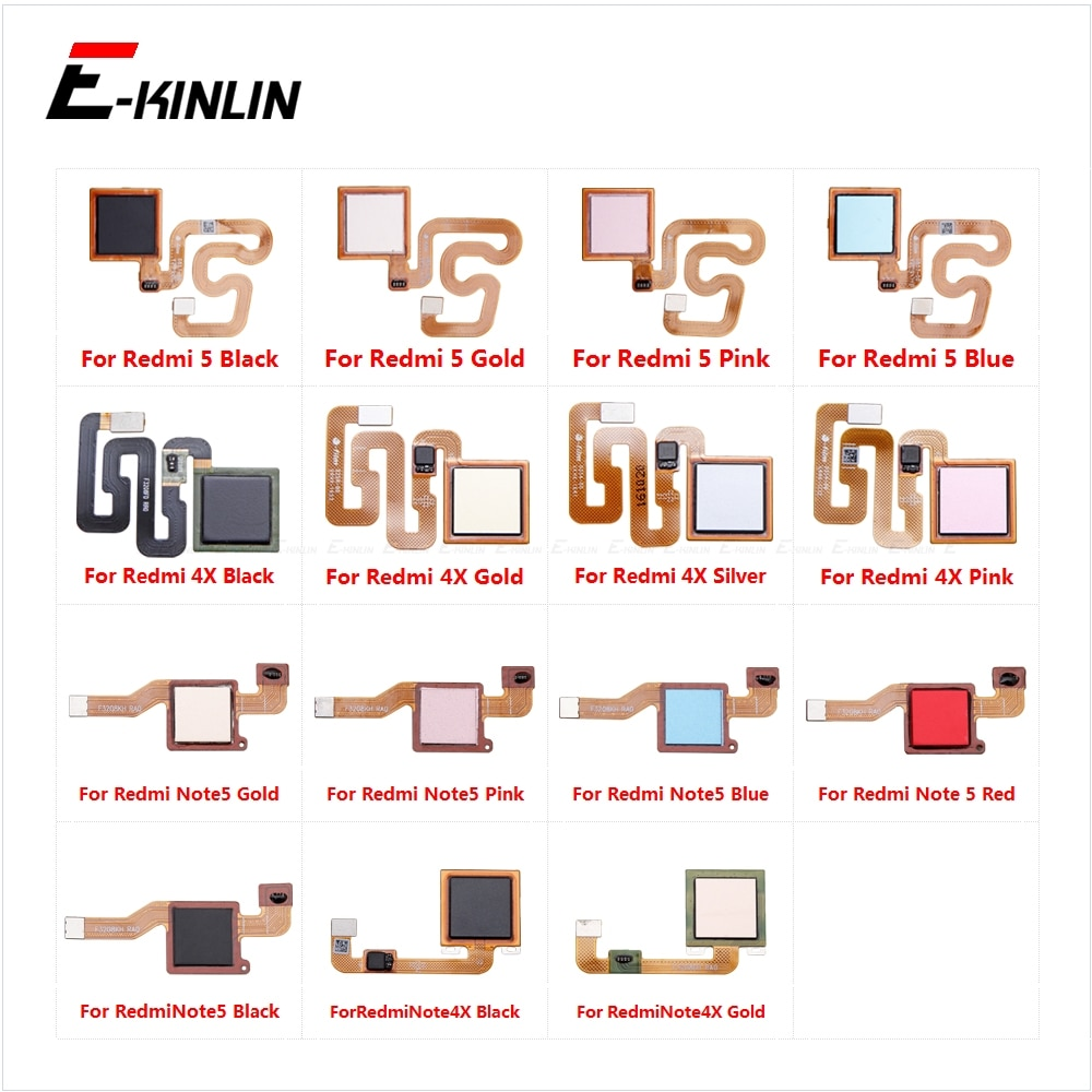 Sensor de huellas digitales conexión botón de inicio para Xiaomi Redmi Nota 5 nota 4X Touch ID reconocimiento Botón de retorno menú conector Flex