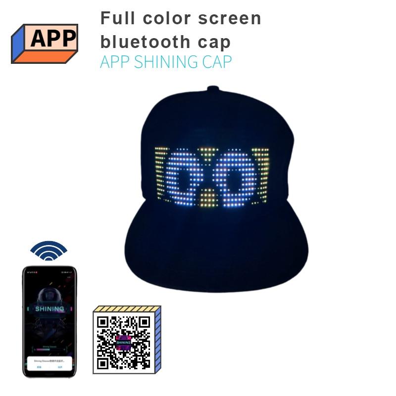 ¡Producto en oferta! Gorra luminosa LED con pantalla en varios idiomas, sombrero publicitario para fiesta de graduación, sombrero de decoración, gorra luminosa, dispositivos portátiles