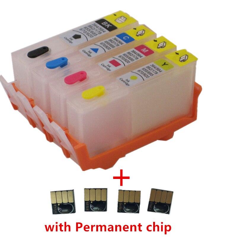 Перезаправляемый картридж для hp 902 903 904 905 с чипом для hp OfficeJet pro 6950 6951 6954 6956 6960 6970 6961 6964 6975 6976