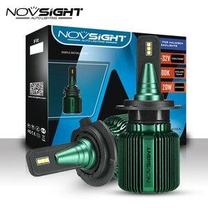 NOVSIGHT Автомобильные светодиодные фары s H4 H7 H11 H13 Светодиодные Автомобильные фары 40 Вт HB3 9005 HB4 9006 HB5 9007 дальний/ближний свет светодиодный льные ...