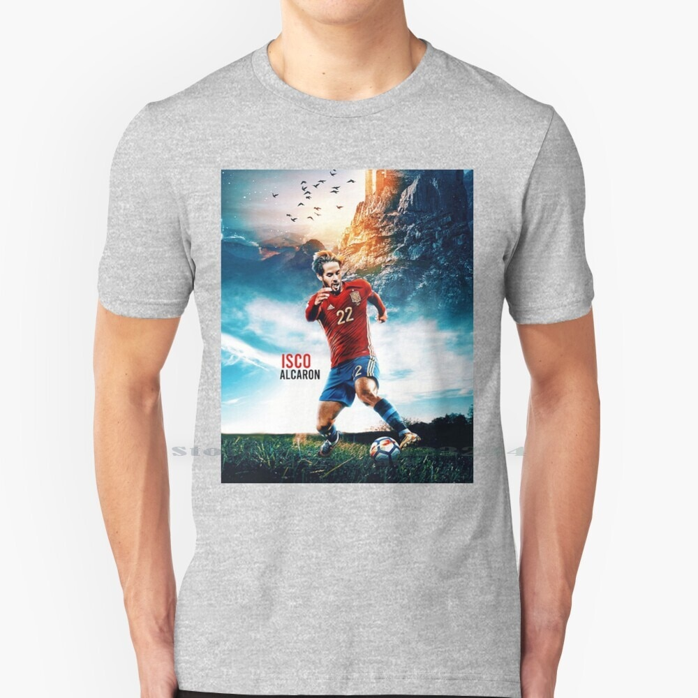 Papel tapiz Isco Art-Camiseta de algodón puro 100%, papel tapiz de Isco