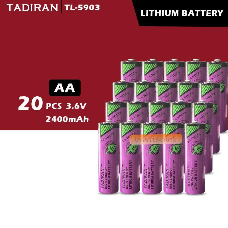 20 piezas nuevo Original TADIRAN batteries TL-5903 ER14500 14505 de 3,6 V AA PLC batería de litio envío gratis