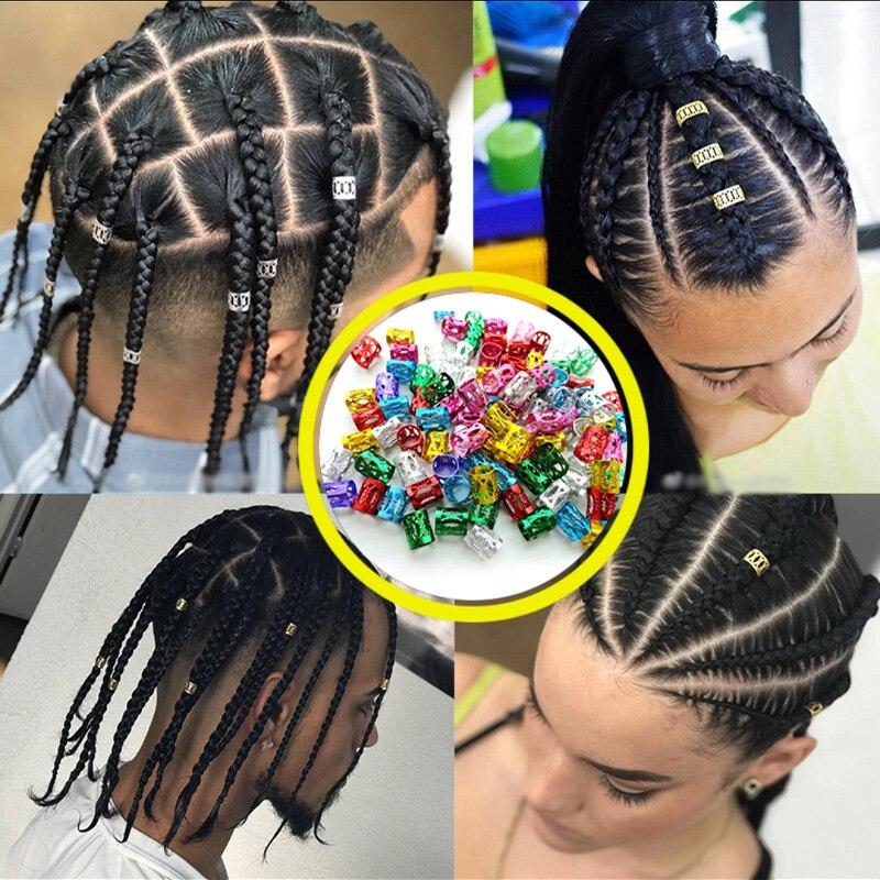 100/50/20 stukken European and American Trendy Braids Dirty Braids Hair Buckles Hip Hop Hair Accesso