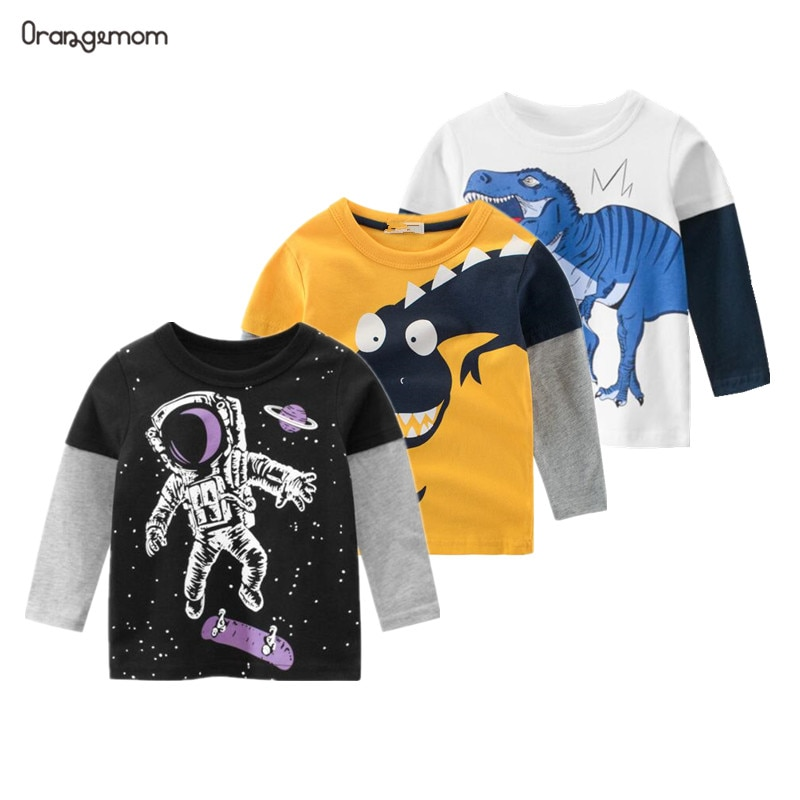 New Spring Children's clothing boy T-shirt wholesale big dinosaur pattern baby clothing mother kids