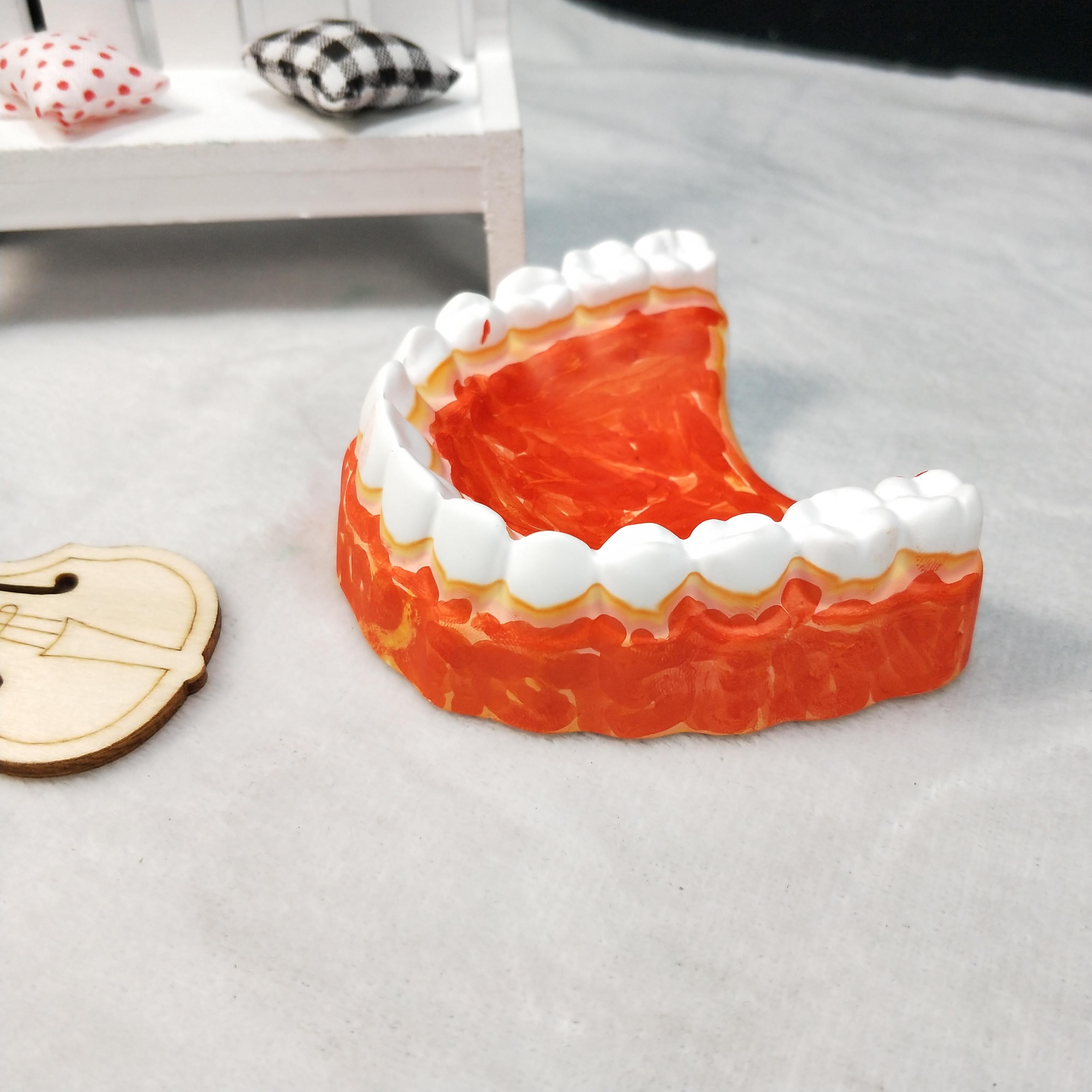 Molde de silicona QT0272 PRZY, moldes de jabón para encías, molde de jabón para dentadura, moldes para velas de Chocolate y yeso, molde de jabón, resina de arcilla ecológica