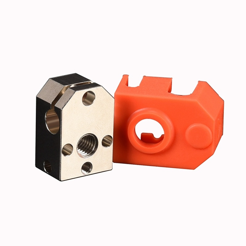 التنين مطلي النحاس سخان كتلة سيليكون جورب ل التنين هوتيند J-رئيس الطارد ثلاثية الأبعاد أجزاء الطابعة PT100 VS V6/V5 ساخنة