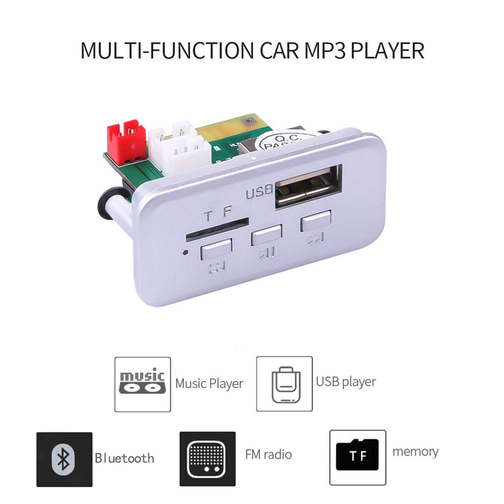 KEBIDU 5V 12V reproductor MP3 para coche, placa decodificadora, módulo de Audio, receptor inalámbrico FM, Radio WMA FM TF, USB 3,5mm AUX para accesorios de coche