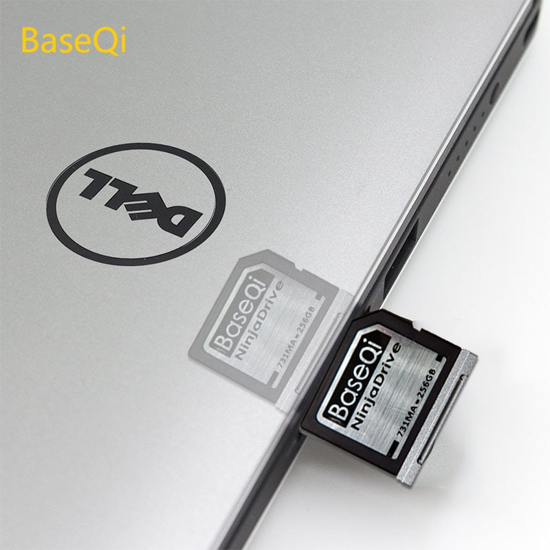 BaseQi NinjaDrive Aluminum 512GB High-speed Expansion Memory Card SD Card For Dell XPS 13-inch enlarge