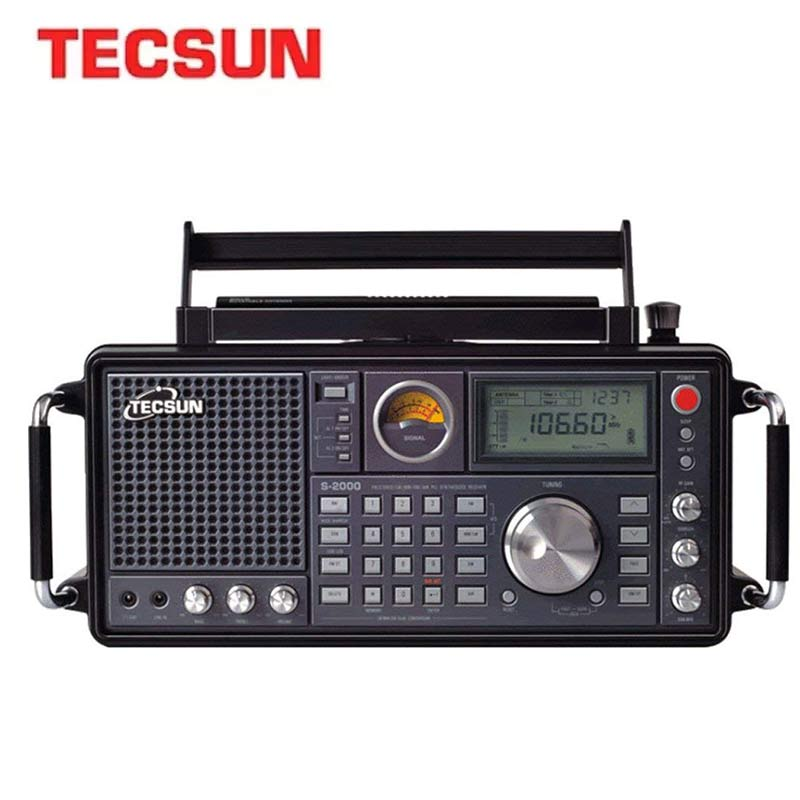 TECSUN S-2000 HAM Portable Radio SSB Dual Conversion PLL FM/MW/SW/LW Air Band Amateur 87-108MHz/76-108 MHz Internet Radio