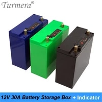 turmera 12v 30ah battery storage box case with indicator dc port build 48pieces 18650 battery for uninterrupted power supply 12v