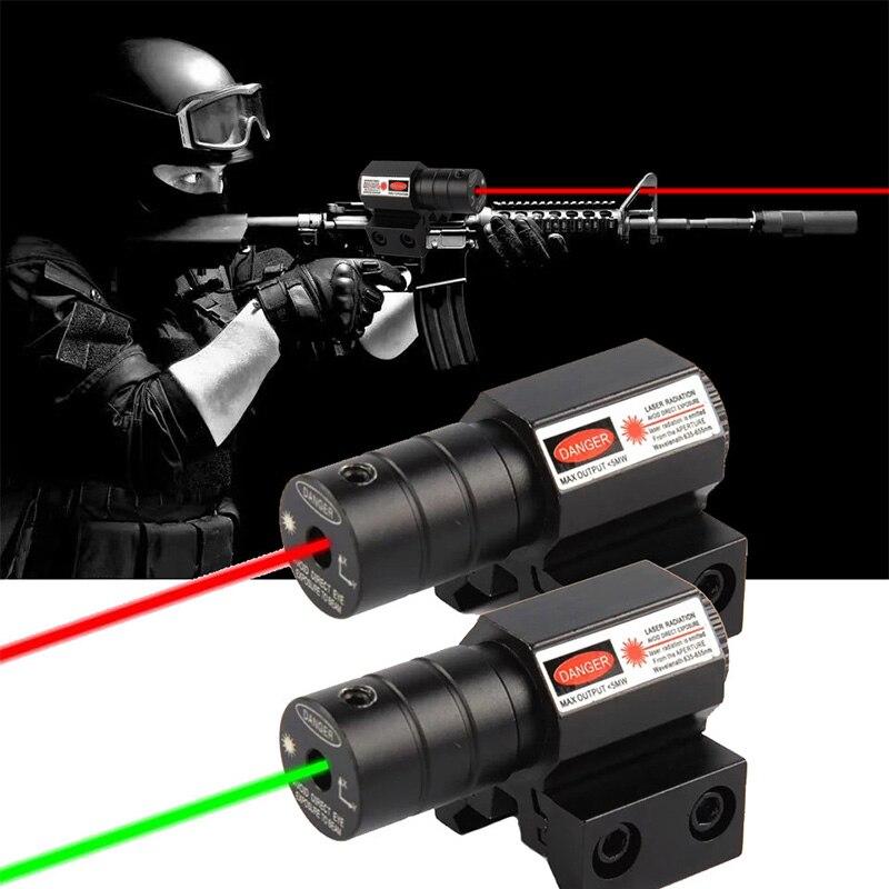 aliexpress.com - Powerful Tactical Mini Red Dot Green Laser Sight Scope Weaver Picatinny Mount Set for Gun Rifle Pistol Shot Airsoft Riflescope