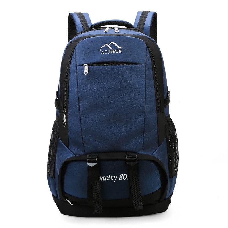 الرجال والنساء حقائب السفر سعة كبيرة التخييم حقيبة ظهر عادية محمول على ظهره للجنسين في الهواء الطلق حقيبة ترحال