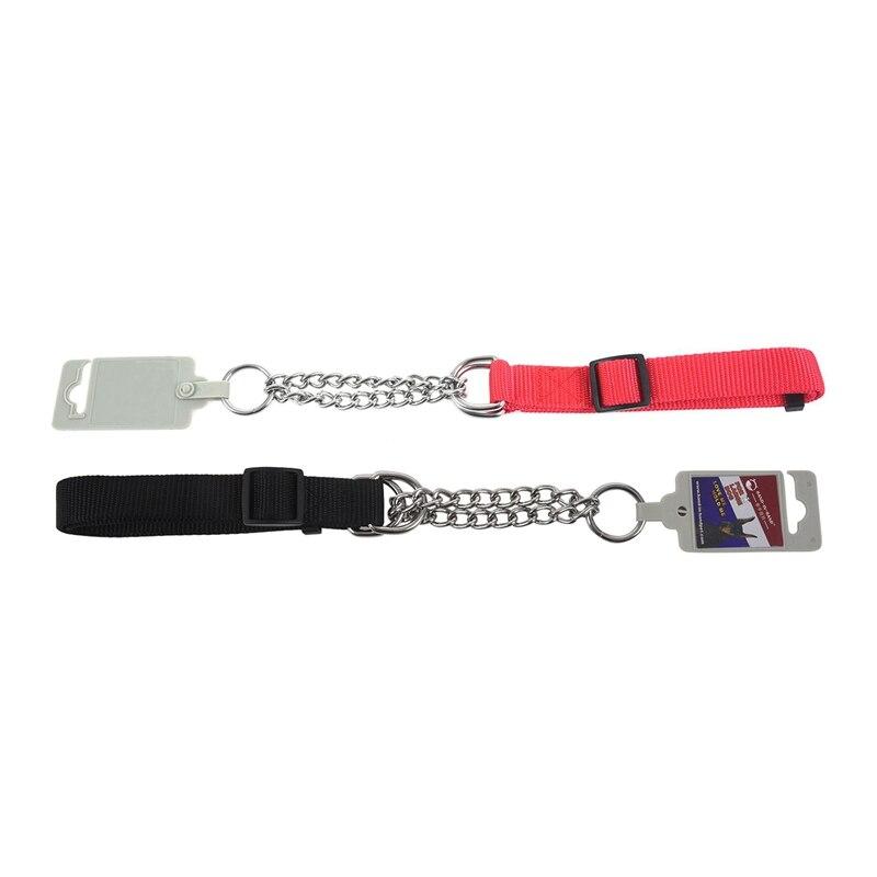 Collar de perro de estilo Choke ajustable, 2 uds. Gear Martin, rojo y negro