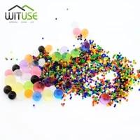 Hydrogel de sol cristal boue 10000 pieces sac  jouet pour enfants  perles deau en croissance  boule deau  decoration en pot de maison de mariage