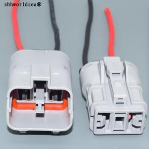 shhworldsea 2pin 9.5mm male female Auto Electri waterproof wire harness plug connector 7222-4220-40 7123-4220-40
