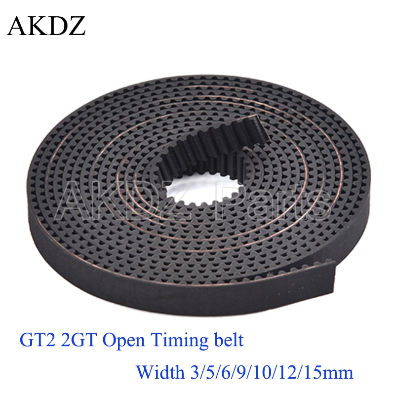 2mgt 2m 2gt synchronous timing belt pitch length 162 164 166 168 170 172 174 176 178 180 182 width 6mm rubber closed 2MGT 2M 2GT Open Synchronous Timing Belt Width 3/6/9/15mm Rubber Samll Backlash GT2 2GT-3/2GT-6/2GT-9/2GT-15mm 3D Printer