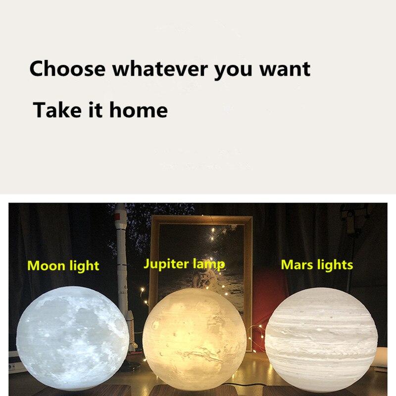 moonlight Magnetic Levitation 3D Moon Mars Jupiter Night Light Free Rotation Unique Gift Home Decoration Holiday Light enlarge