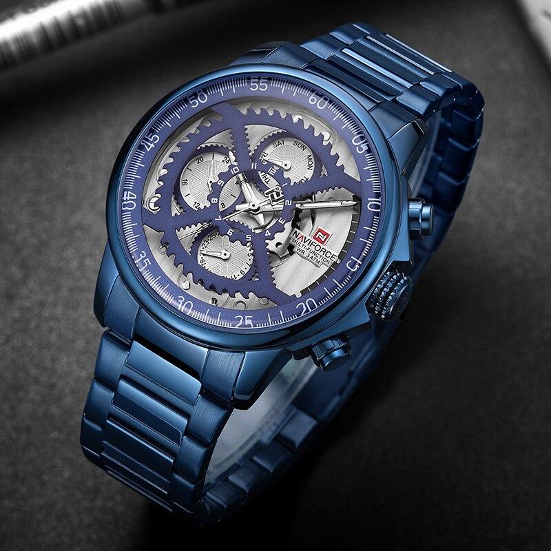 NAFIFORCE Top Brand Luxury Men's Watches Casual Quartz Clock Male Sport Waterproof Watch Gift Blue Watches Men Relogio Masculino