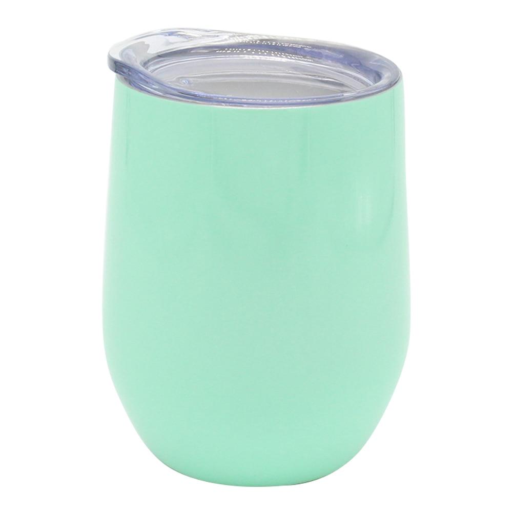Botella de agua al vacío de acero inoxidable con tapa de 12 onzas para preservación del calor de bebidas frías y té de invierno copa de cascarón