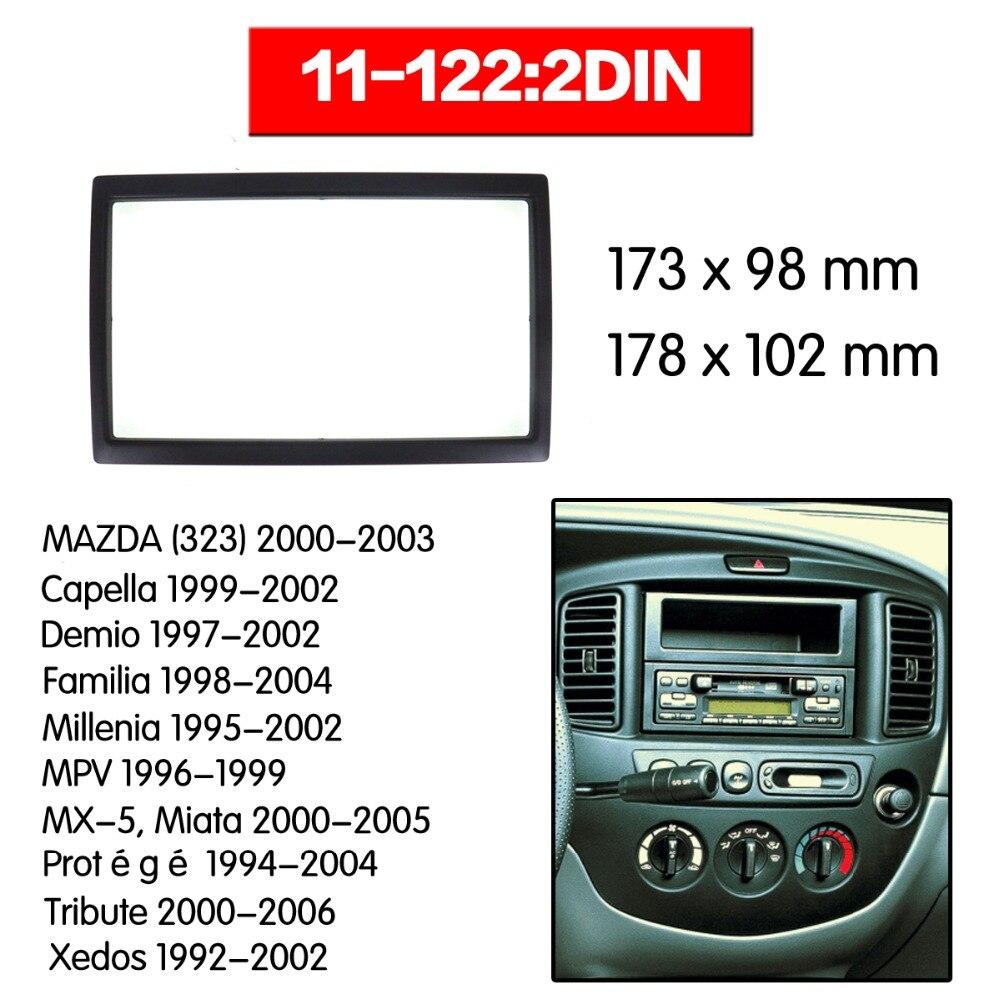 Автомобильная радиосвязь, фасция для MAZDA(323)(626),Capella,Demio,Familia, millinia, MPV,MX-5,Miata стерео фасция, комплект установки приборной панели ZWA11-122