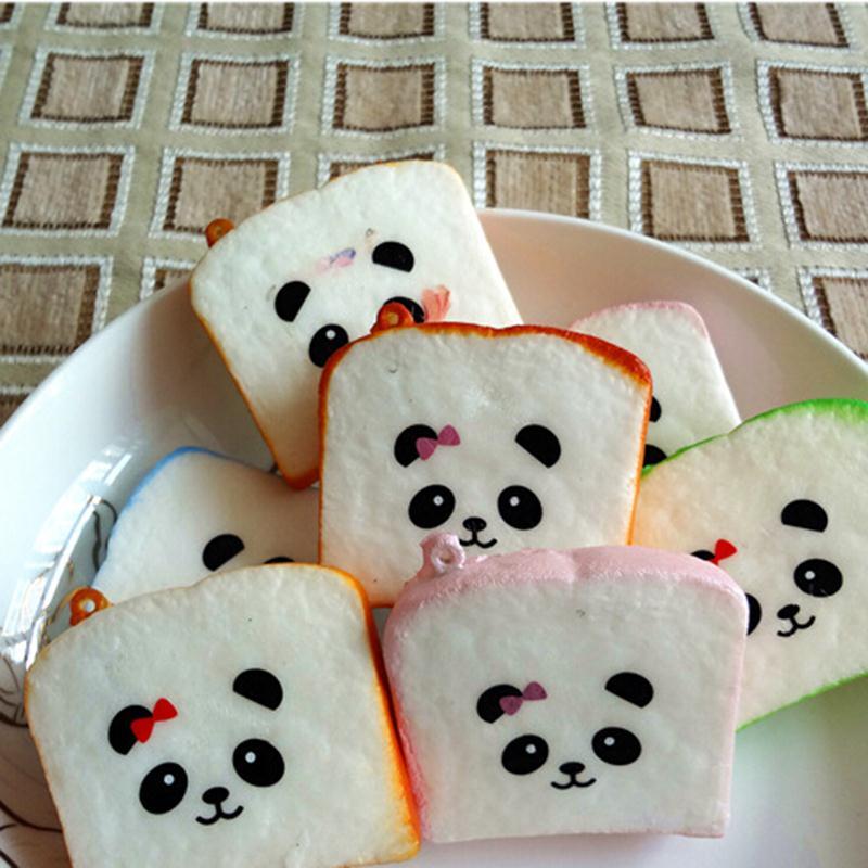 Correas suaves para teléfono tostadas Rilakkuma correa de teléfono móvil con cordón impreso Kawaii accesorios de bolsa de pan en rodajas