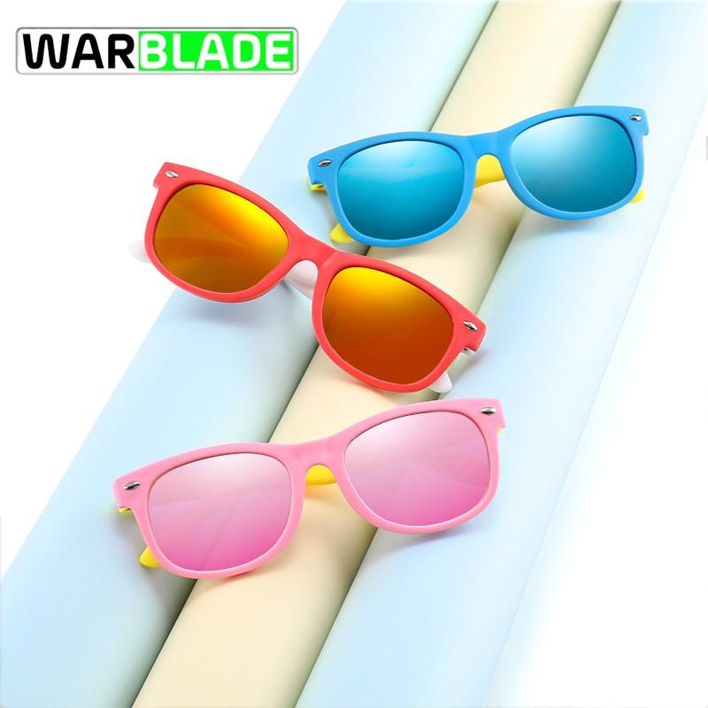 Warblade 2020 polarizado crianças óculos de sol moda meninos meninas crianças silicone eyewear máscaras do bebê sol uv400